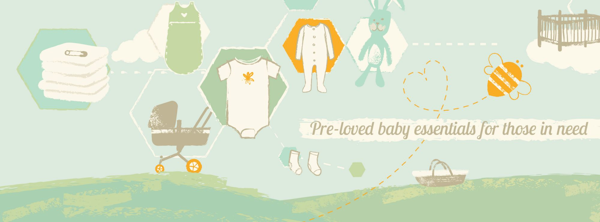 BabyBank banner with text