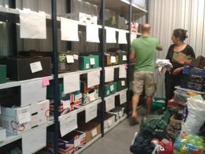 sorting shelves